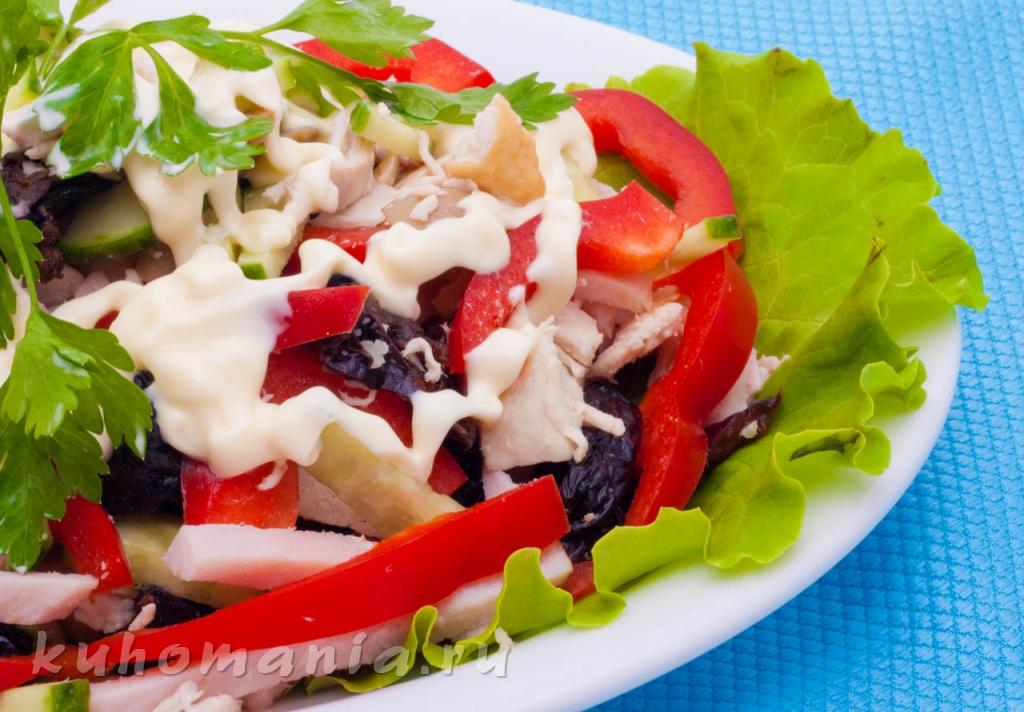 Салат из свежих шампиньонов рецепт с очень
