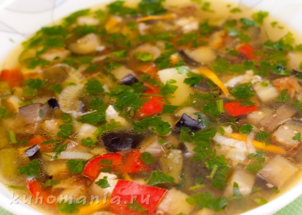рецепты блюд из баклажанов супы
