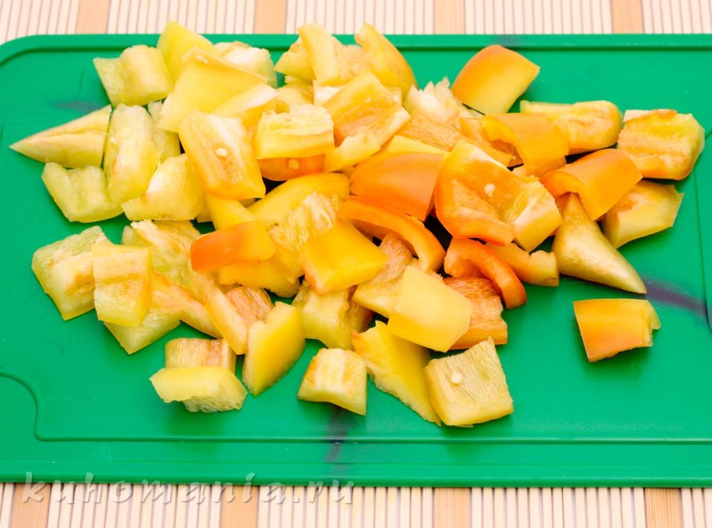 Как нарезать перец на греческий салат