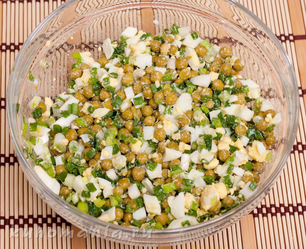 салаты рецепты огурцы зеленый горошек