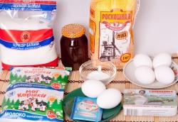 Яйца мука мед масло рецепт