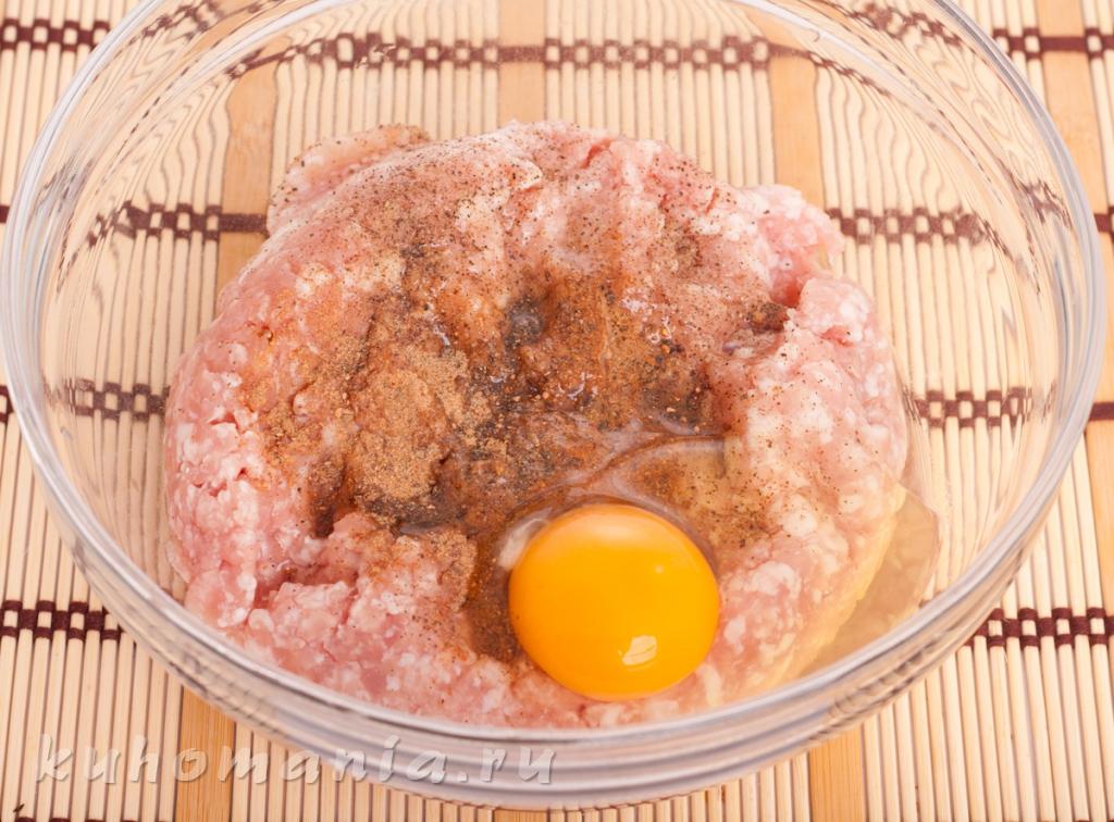 Как сделать яйца в фарше